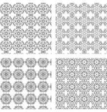 circular ornaments pattern set royalty free vector image