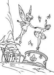 Tinkerbell Dancing With A Ballerina Of A Music Box Coloring Pages Box Coloring Pages