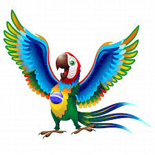 Brizil Flag Macaw Cartoon With Brazil Flag Colors By Bluedarkat Graphicriver