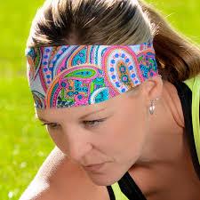 pink paisley headband paisley print bald hairstyles and workout