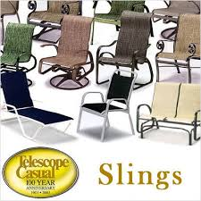 Patio Furniture Sling Replacement Telescope Casual Gardenella Replacement Chair Sling 1990 Present