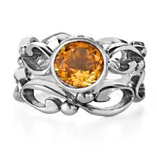 citrine engagement rings citrine engagement ring set wrought infinity metalicious