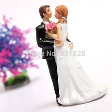 buy cheap wedding cake toppers bride and bridegroom figurine cake