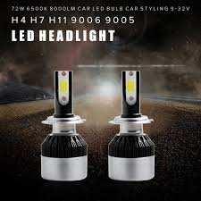le h7 led 2pcs bright h7 led bulb 72w 8000lm headlights auto led l