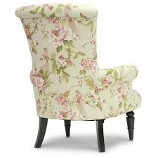 Floral Accent Chair Baxton Studio Kimmett Beige Pink Linen Floral Accent Chair 322