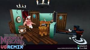 artstation vg remix the secret of monkey island scumm bar
