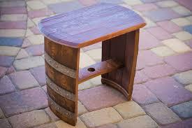 unusual wooden diy wine barrel with simple bolt ornament on cte