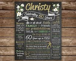 celebrate 60 birthday 60th birthday chalkboard 1958 facts 60 years ago in 1958 born in