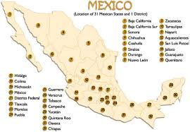 mexico on map map