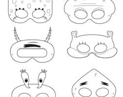 pony printable coloring masks pony costume happilyafterdesigns