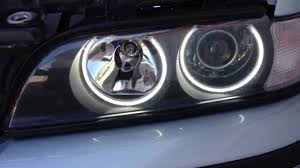 how to have angel eyes fade in out with key remote bmw 5 series