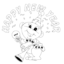 happy new year coloring pages getcoloringpages com