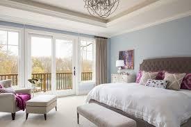 benjamin moore vale mist bedroom transitional with bedroom bench