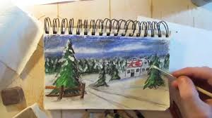 how to draw a holiday christmas card draw it today 4 speed