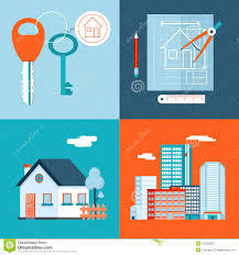Design House Free Retro Real Estate Symbols Private House Stock Vector Image 42533906