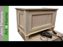 Free Plans To Build A Toy Box by Make A Blanket Chest Toy Chest By Jon Peters Youtube