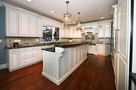 kitchen island with bar top classic custom cabinets rumson new jersey by design line kitchens