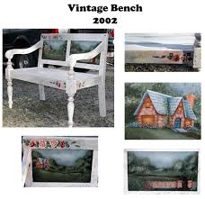 Shabby Chic Bench Hand Made Vintage Shabby Chic Garden Bench Acrylic By Moonlight