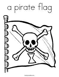 A Pirate Flag Coloring Page Twisty Noodle Flag Color Page