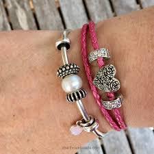 pandora leather bracelet pink images Pandora opalescent pink crystal marthnickbeads jpg