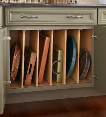 cookie sheet cabinet divider kitchen storage drawer and cabinet ideas landmark cabinetry