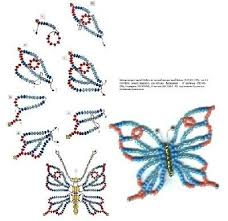 beaded butterfly bracelet images Beaded butterfly tutorial bjl beaded beauties pinterest jpg