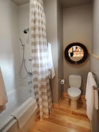 How To Design An Office Photos Hgtv Traditional Guest Bathroom With Striped Shower Curtain