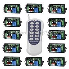 remote control on off light switch rf wireless remote control light switch 220v power switch system 12