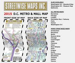 Wmata Map Metro by Themapstore Streetwise Washington Dc Metrorail U0026 Mall Map