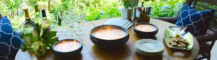 Citronella Candles In Decorative Pottery