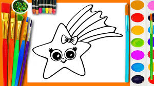 learn to draw and coloring for kids and paint a star coloring book