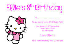 kitty invitations celebrations u0026 occasions ebay