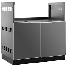 Outdoor Kitchen Cabinets And More Newage Products Aluminum Slate 33 In Insert Bbq Grill 33x34 8x23