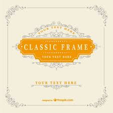vintage classic frame template vector free