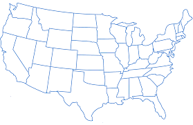 Color In Map Of The United States by Map Of Usa Blank Potytk