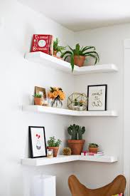 living room inspiring floating shelving ideas white solid