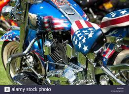 Custom Car Flag Harley Davidson Motorcycle With Custom American Flag Paint Work