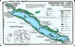 Us New York Map by Greenwood Lake Fishing Map Mark Evans Maps