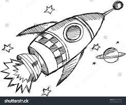 doodle sketch rocket vector illustration stock vector 82193284