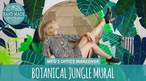 diy wall art botanical jungle mural hgtv handmade youtube diy wall art botanical jungle mural hgtv handmade