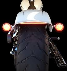 Led Strip Tail Lights by Custom Dynamics Chrome Led Tail Light Strip 13 17 Harley Breakout