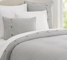 Best Duvets Covers Grey Striped Duvet Cover 39