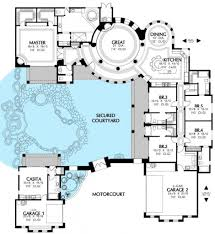 courtyard house plans home shaped residence in u designs with with