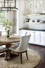 kitchen room dark wood round table pine dining table round