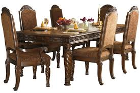 ashley dining room furniture set north shore collection traditional turned leg dining table with