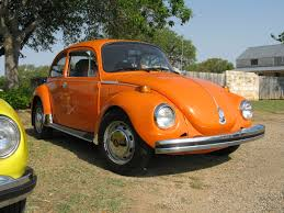 orange volkswagen beetle groovy 0513 texas vw classic