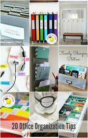 Organizing Clutter by 20 Office Organization Tips Office Organisation Organisations