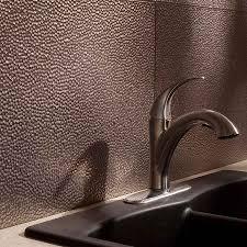 Fasade Kitchen Backsplash Inspiring Brushed Nickel Kitchen Backsplashes With Fasade Hammered