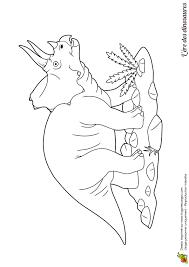 Dessin à colorier ère des dinosaures le tricératops