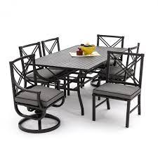 Hampton Bay Belleville 7 Piece Patio Dining Set - 7 piece patio dining set with swivel chairs home chair decoration